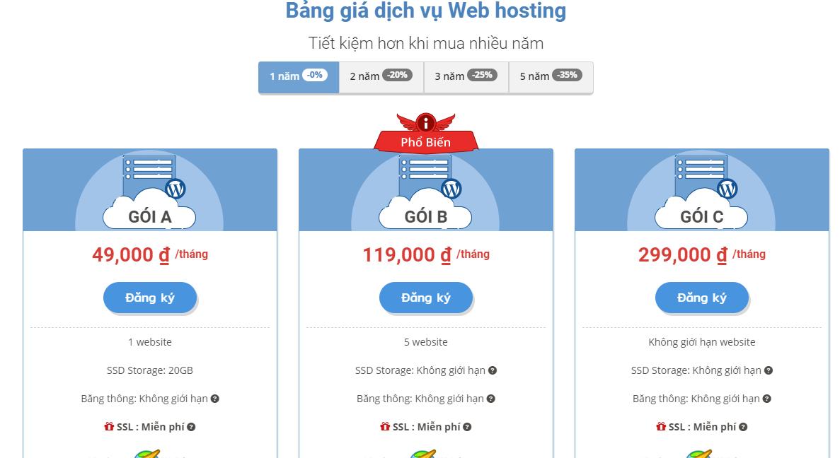 đăng kí hosting 3