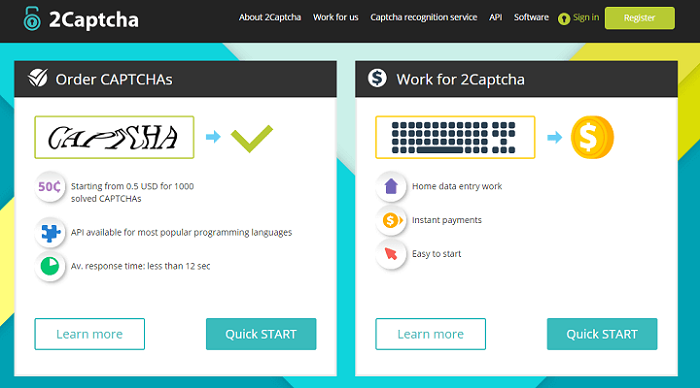 Trang 2Captcha cho phép kiếm tiền với mã captcha