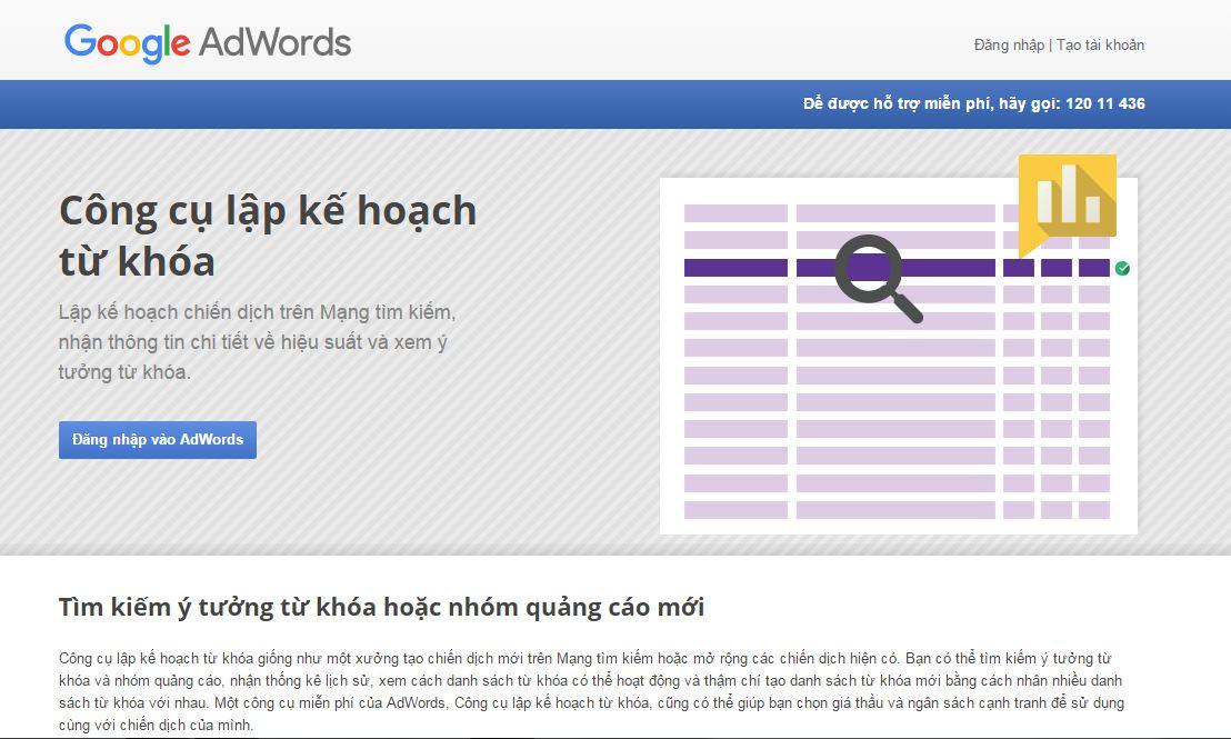 Google Keyword Planner là công cụ nghiên cứu từ khóa tối ưu
