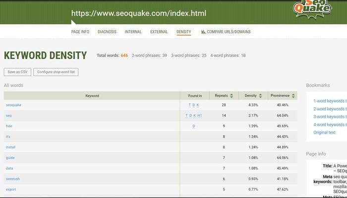 Kiểm tra từ khóa bằng công cụ SEOquake