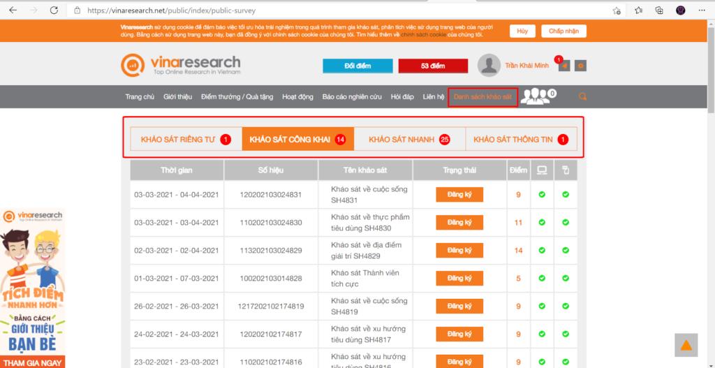 vinaresearch.net kiếm tiền
